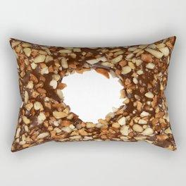 Overfill milk chocolate doughnut Rectangular Pillow