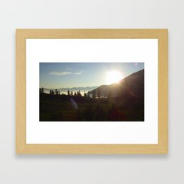 Garibaldi sunset Framed Art Print