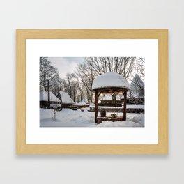 Pastoral winter scene Framed Art Print