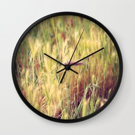 Red Foxtail Solo Wall Clock