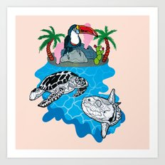 Tropical island  Art Print