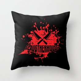 Butcher Boner Slaughter Meat Throw Pillow