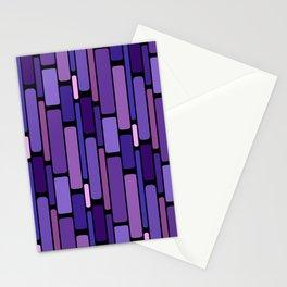 Purple Indigo Retro Blocks Stationery Cards
