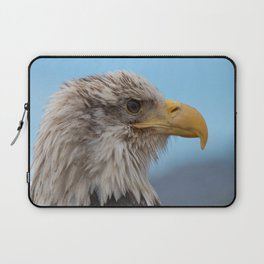 White Headed Eagle Portrait. Laptop Sleeve