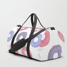 Watercolor Donut Pattern Duffle Bag