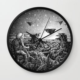 Spaceman #2 Wall Clock