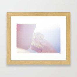 Girl with Apple Framed Art Print