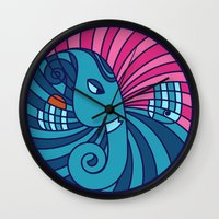 ganesha Wall Clocks featuring Ganesha by Karthik