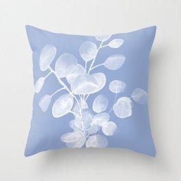 Abstract Eucalyptus Silver Dollar Throw Pillow