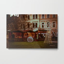 Prague Christmas Market Metal Print
