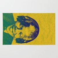 mandela Area & Throw Rugs featuring Mandela Rocked by _JC_