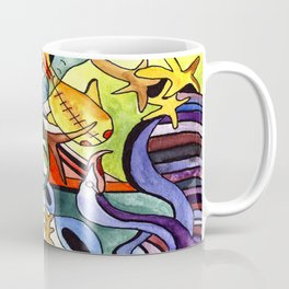 Childhood Series: Playtime with Animals Watercolor Painting Coffee Mug
