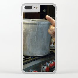 Peace And Pot Clear iPhone Case