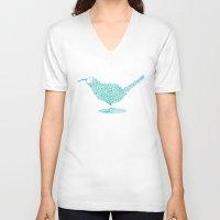 kiwi V-neck T-shirts featuring kiwi by faetea