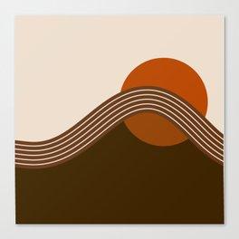 Cocoa Sundown Stripes Canvas Print