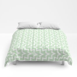 Sea Urchin - Light Green & White #609 Comforters