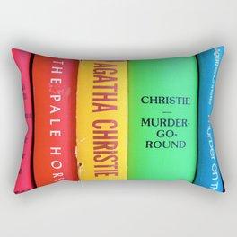 Rainbow Agatha Murder Books Rectangular Pillow
