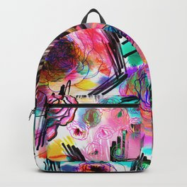 Graffiti flowers Backpack