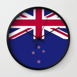 New Zealand flag emblem Wall Clock