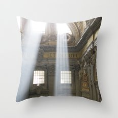Sun rays in the Vatican, Italy Throw Pillow