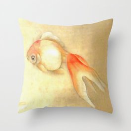 Japanese Goldfish Throw Pillow