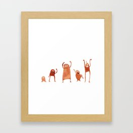Monster Dance Party Framed Art Print