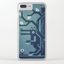 Midnight Menace Clear iPhone Case
