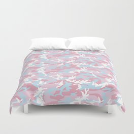 Pink Candy Camouflage Pattern Duvet Cover