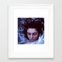 laura palmer Framed Art Prints featuring Laura Palmer from Twin Peaks by Alice Teal