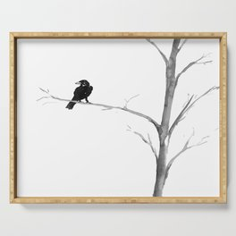 Raven in a Tree Serving Tray