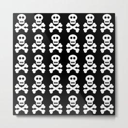 Skull and Cross Bones Metal Print