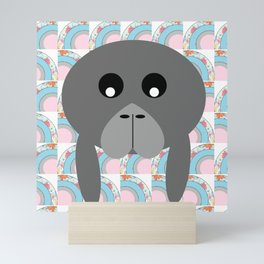 Rainbow Manatee Mini Art Print