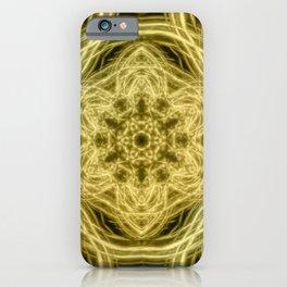 Elegant gold kaleidoscopes iPhone Case