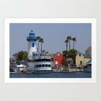 Los Angeles, Harbor Art Print