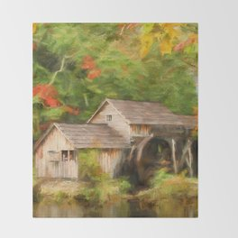 Mabry Mill Autumn Throw Blanket