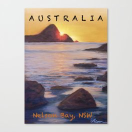Poster Nelson Bay Canvas Print