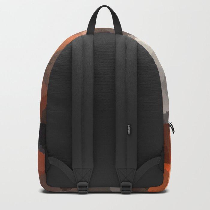 Abstract orange black pattern Backpack