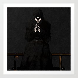 Praying in the Shadows Art Print