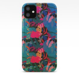 Papercut Floral Dark iPhone Case