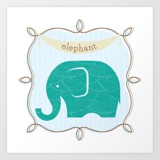 Fun at the Zoo: Elephant Art Print