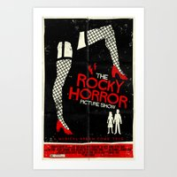 rocky horror Art Prints featuring Rocky Horror Picture Show  by Mark Welser
