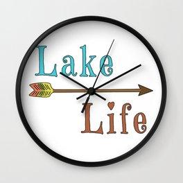 Lake Life - Summer Camp Camping Holiday Vacation Gift Wall Clock