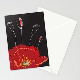 Poppy variation 8 Stationery Cards