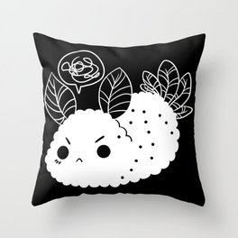 Angry Sea Slug Bunny Throw Pillow