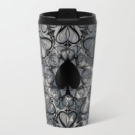 Ace of Spades Mandala Travel Mug