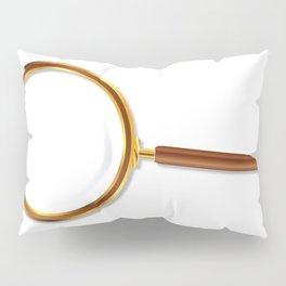 Brass Magnifying Glass Pillow Sham