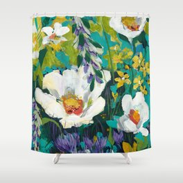Poppy Clouds Shower Curtain
