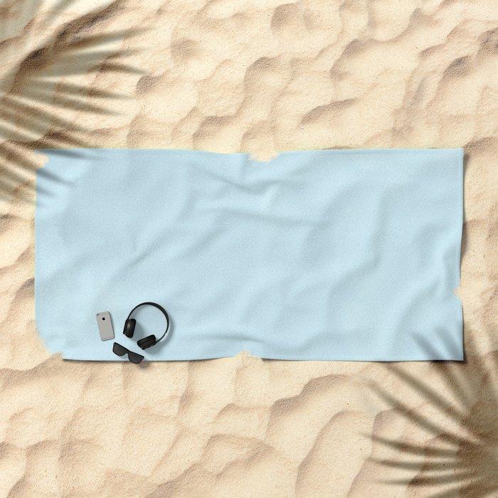 Tropical Waters Blue Watercolor Beach Towel