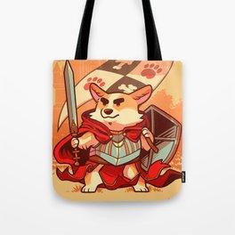 Corgi knight Tote Bag
