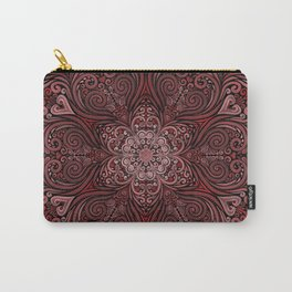 Red Ornate Pattern with 3D effect Carry-All Pouch